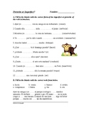 Imperfecto o Pretérito? Spanish Imperfect and Preterite Worksheet