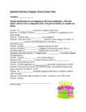 Spanish Present Tense Regular Verbs Worksheet (Spanish 1)
