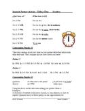 Decir La Hora Actividad - Telling Time Spanish Partner Activity
