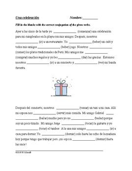 Spanish Preterite Worksheet - El preterito