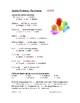 Preterite Tense Worksheet - El pretérito (multiple choice) (SUB PLAN)