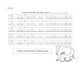 Spanish Worksheet. Un elefante se balanceaba
