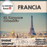 Spanish Worksheets:  Francia. Educación temprana. A partir de 3-4 años.
