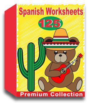 Spanish Worksheets - Includes 100 Premium Worksheets