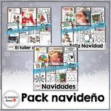 Spanish Worksheets: Pack navideño - 3 semanas de aprendizaje y diversión