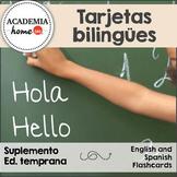 Spanish Worksheets: Tarjetas bilingües / Bilingual flashcards