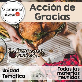 Spanish Worksheets: Unidad especial de Acción de Gracias.