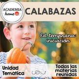 Spanish Worksheets: Unidad especial de Calabazas