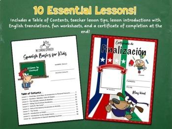Spanish Basics Workbook for Grades K-2! (MEGA BUNDLE!)