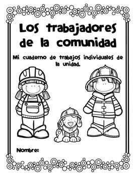 Spanish Workstation Set. Los ayudantes de la Comunidad. Centros de Español
