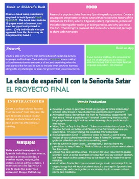 Spanish/World Language Project Choice Board (Individual & Group)