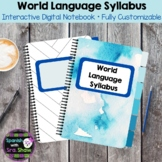 Spanish World Language Syllabus (For Distance Learning or