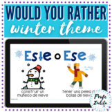 Spanish Would you rather | Winter Game
