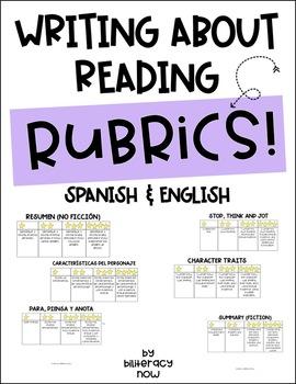 English & Spanish Writing About Reading Rubrics!