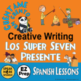 Spanish Writing Activities for Spanish Super Seven Verbs in the Present Tense.