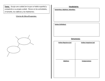 Spanish Writing Activity Focusing on Adjectives and Comparisons