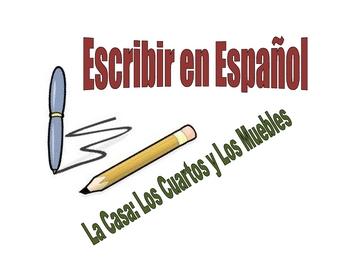 Spanish Writing Activity : House, Room, Furntiure Vocab and Adj