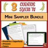 Spanish Writing Activity   Past Present and Future Tenses   Mini Sampler Bundle