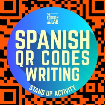 Spanish Writing Activity – QR Code Words Story writing