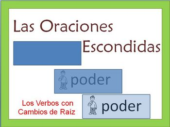 Spanish Writing Activity -Stem-Change Verbs ( Writing Confidence)