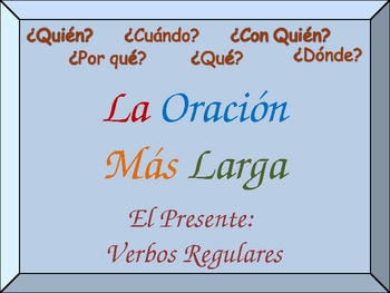 Spanish Writing Activity with Regular Verbs (Detailed Sentences)