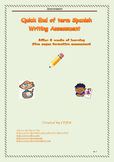 Spanish Writing Assessment