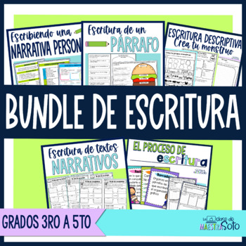 Spanish Writing Bundle | Paquete de recursos de escritura