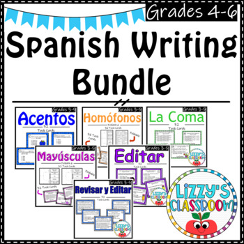 Spanish Writing Bundle *Task Cards*