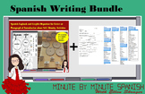Spanish Writing Bundle - Tools for  infinitives, me gusta, weather, calendar