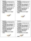 Spanish Writing Checklist