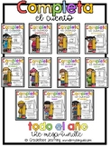 Spanish Writing - Completa el cuento: Mega-Bundle