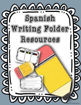 Spanish Writing Folder Resources