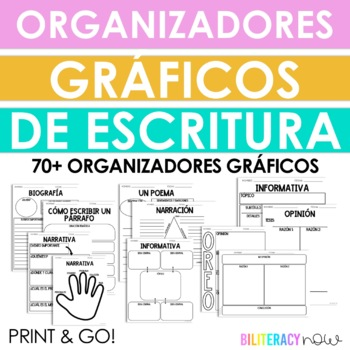 Spanish Writing Graphic Organizers! 30 Organizers!