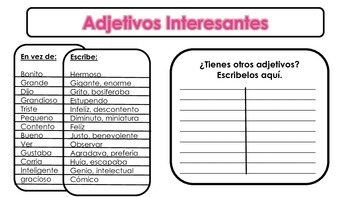 Spanish Writing Packet Estrategias de la Escritura