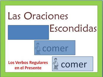 Spanish Writing Practice Powerpoint -Present Tense, Regular Verbs