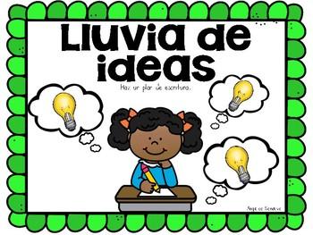 Writing Process Posters in Spanish El proceso de escritura