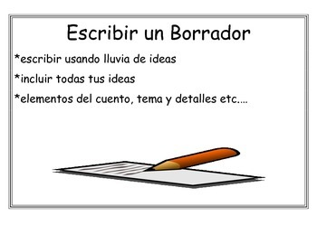 Spanish Writing Process Posters