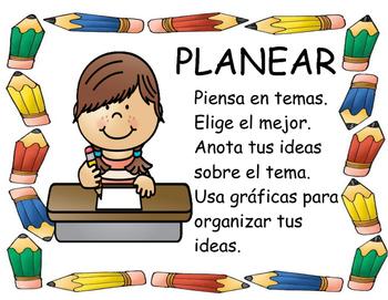 Spanish Writing Process Posters Bundle