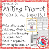 Spanish - Writing Prompt - Preterite vs Imperfect Childhood Letter