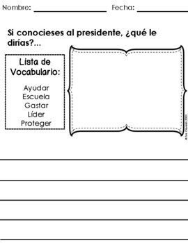 Spanish Writing Prompts February