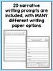 SPANISH Writing Prompts For Second Grade Narrative Writing