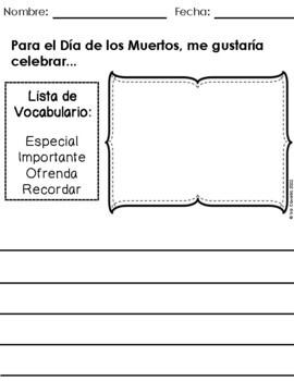 Spanish Writing Prompts November