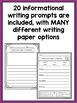 SPANISH Writing Prompts for First Grade Informational Writing