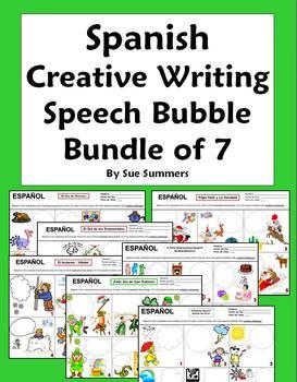 Spanish Creative Writing Speech Bubble Bundle of 7