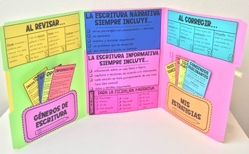 Spanish Writing Lapbook Interactive File Folder with 12 Checklists/Strategies!