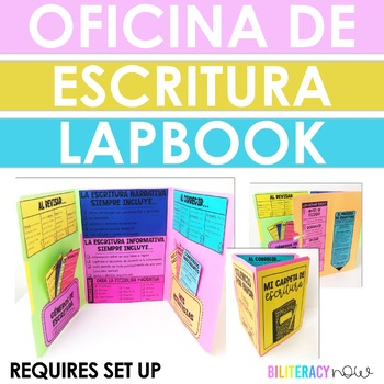 Spanish Writing Interactive Lapbook - 18 Checklists/Strategies!