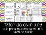 Proceso de Escritura y Taller de Escritura en Español. Writing workshop
