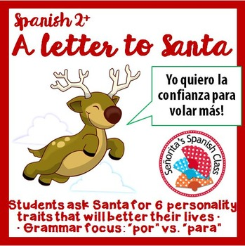 Spanish - Writing a Letter to Santa to ask for Personality Traits!