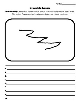Spanish Writing and Speaking Activity -Linea de la semana 10