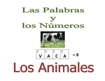 Spanish  Writing and Spelling Activity with Animals
